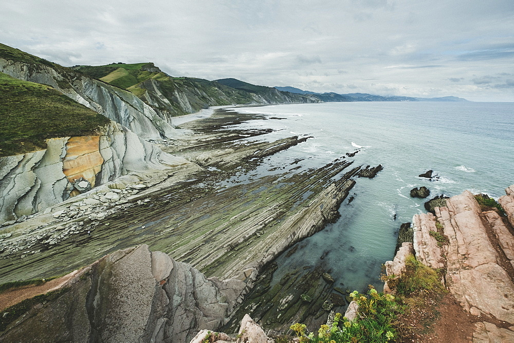 Coastal Rock Formations In Zumaia, Basque Country