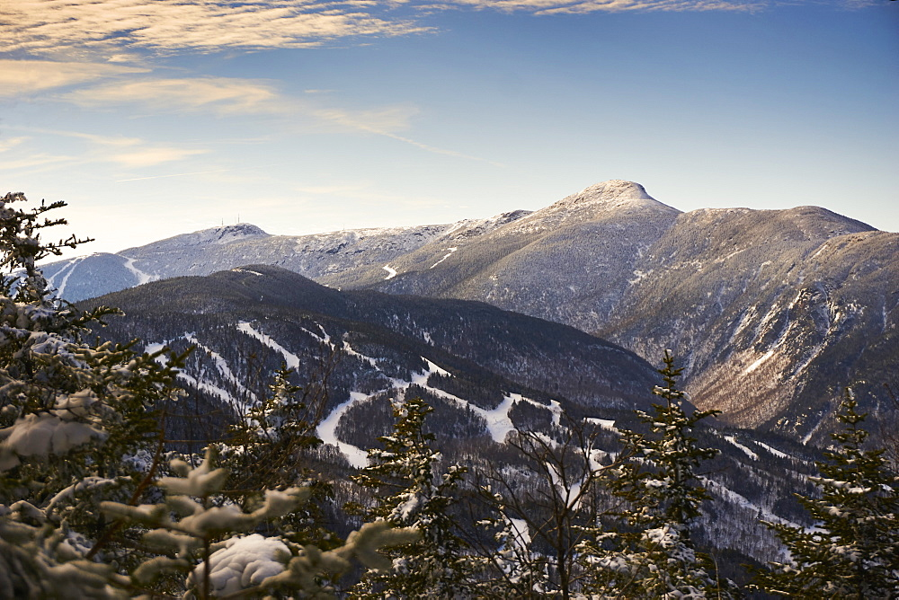 A View Of Smugglers Notch And Stowe From Hagerman Overlook, Vermont