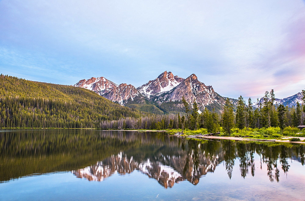 Sawtooth Mountains from Lake Stanley