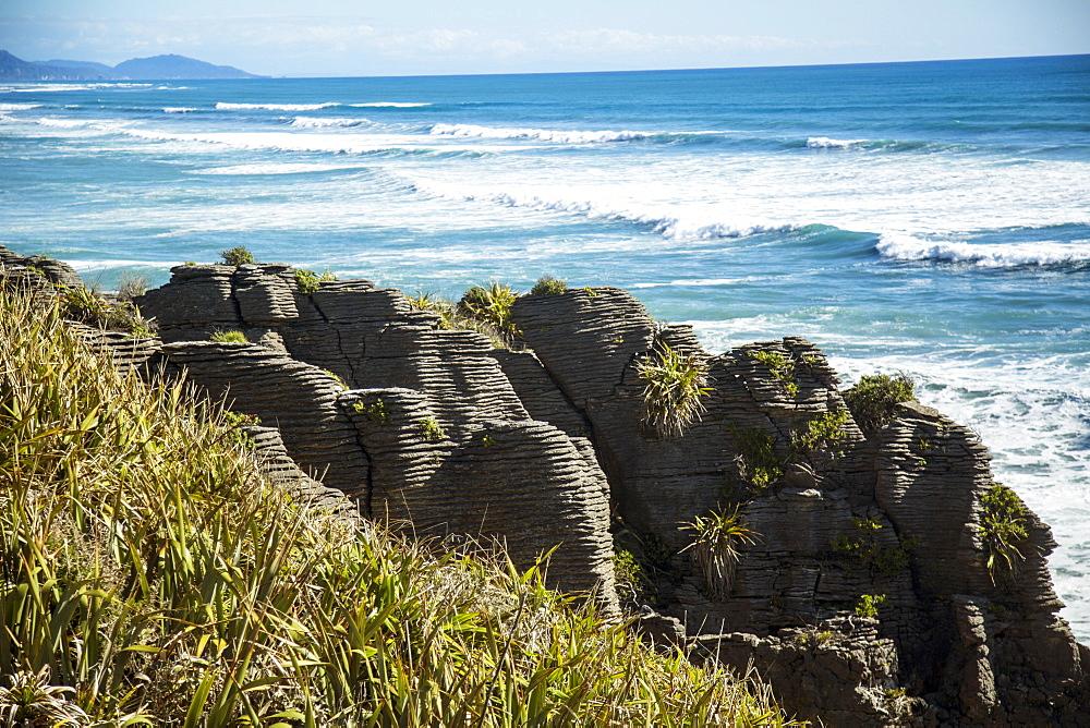 Punakaiki Pancake Rocks On The West Coast Of New Zealand
