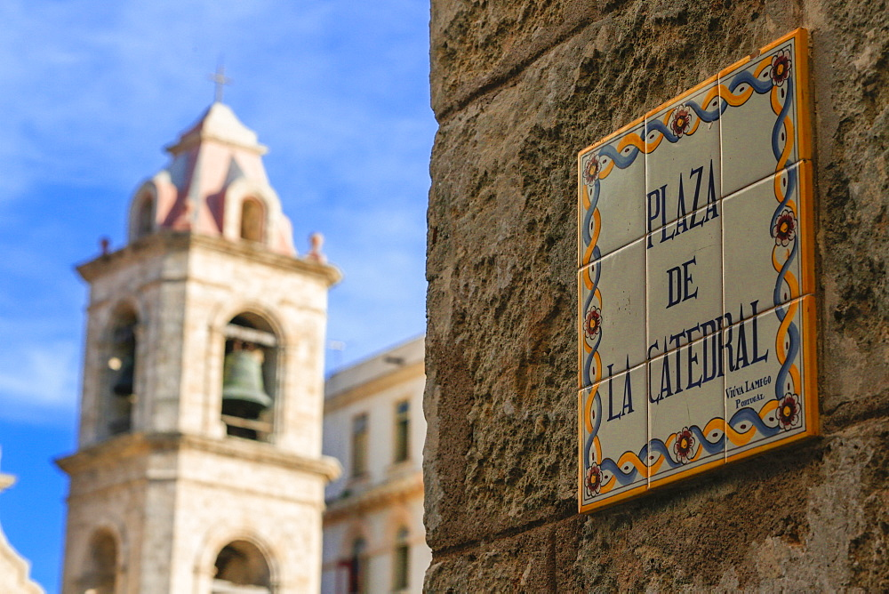 Plaza De La Catedral In Old Havana, Cuba