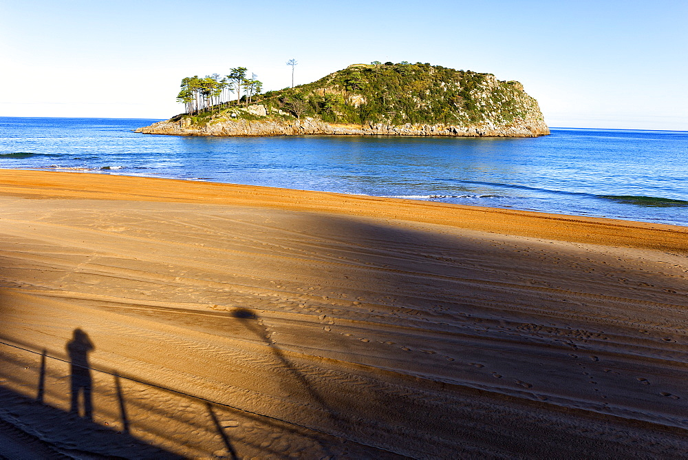 The Lekeitio Beach With The Atlantic Rock Cliff In Basque Country, Spain