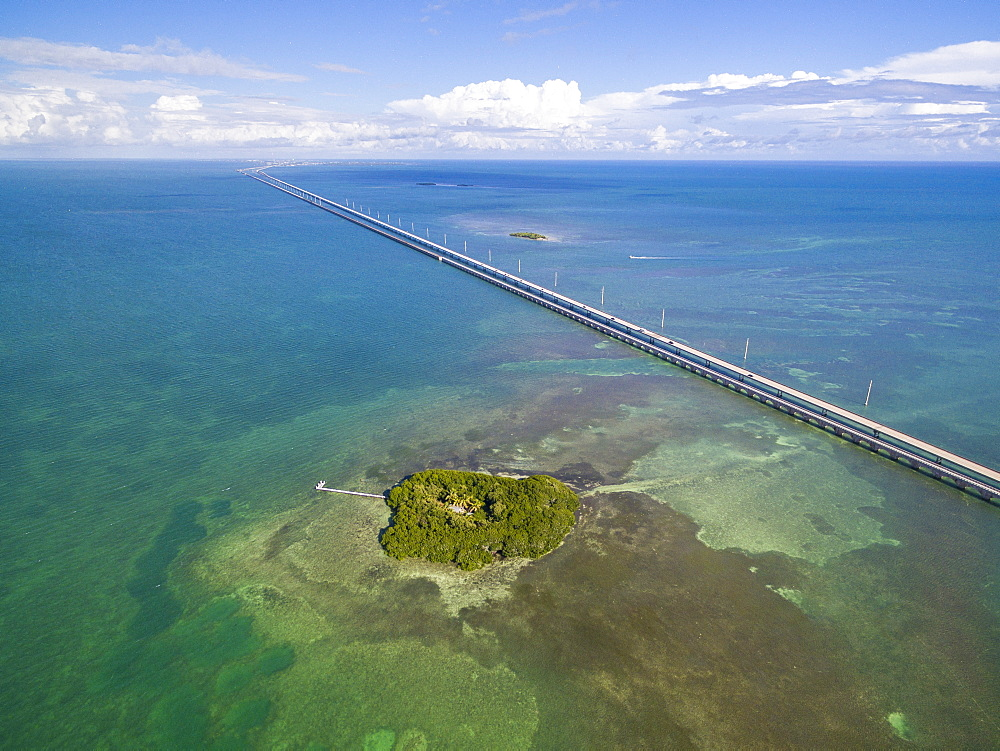 Scenic Aerial View Of Big Pine Key In Florida