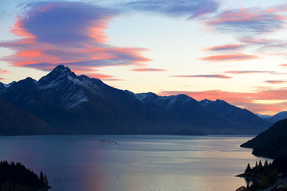 An Oceanic View Of Queenstown After Sunset