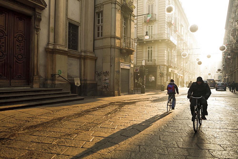 A Street Of Turin, Piedmont, Italy