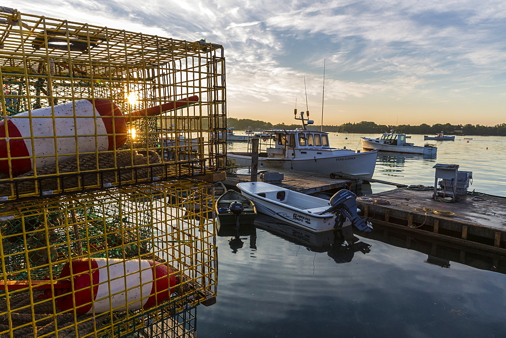 Lobster Buoys And Traps On The Wharf At The Friendship Lobster Co-op In Friendship, Maine