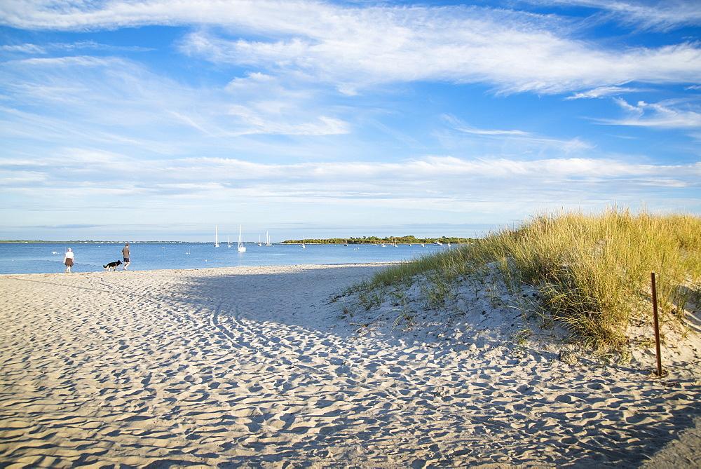 Evening at a sandy beach in Rhode Island