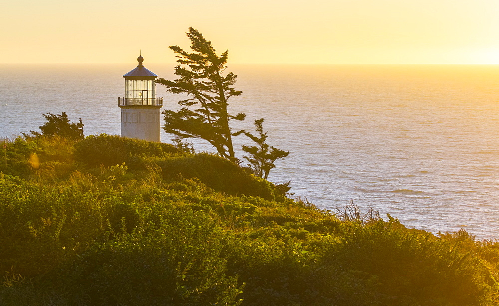 Cape Disappointment Lighthouse at Sunset