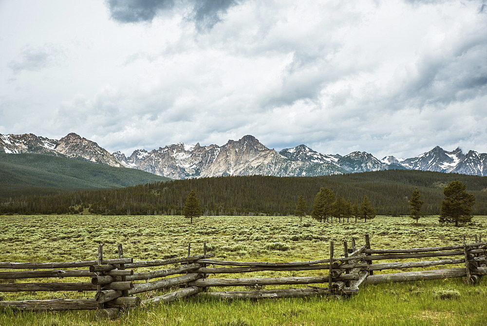 A view of the Sawtooth Mountains from Stanley Idaho