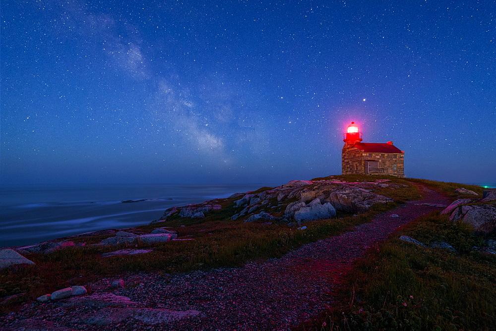 Rose Blanche Lighthouse on the coast of Newfoundland