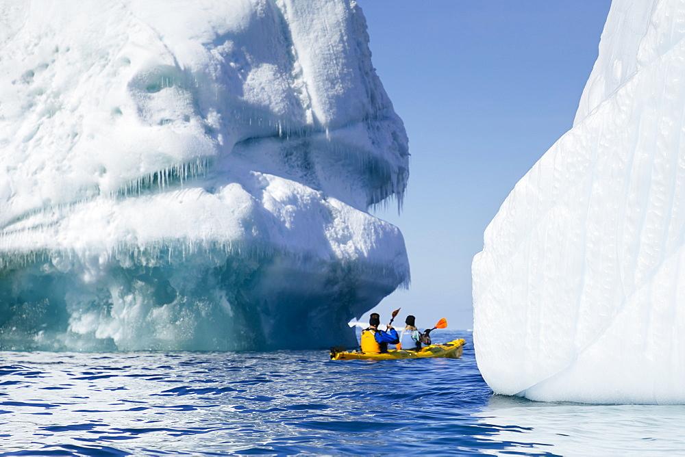Kayaking in Terra Nova Bay in East Antarctica