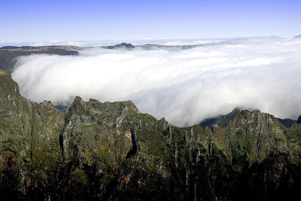 Pico do Areeiro mountain peak in Madeira, Portugal