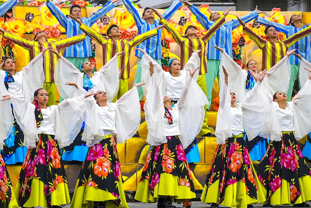 Dancers performing at Dinagyang Festival, Iloilo, Philippines