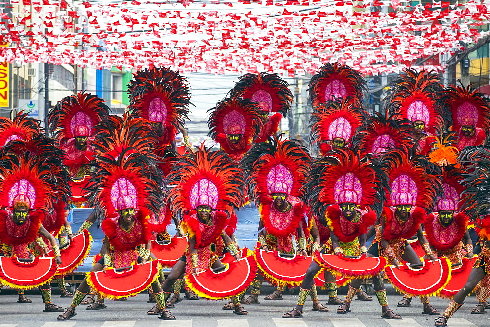 Ati warriors performing at Dinagyang Festival, Iloilo, Philippines