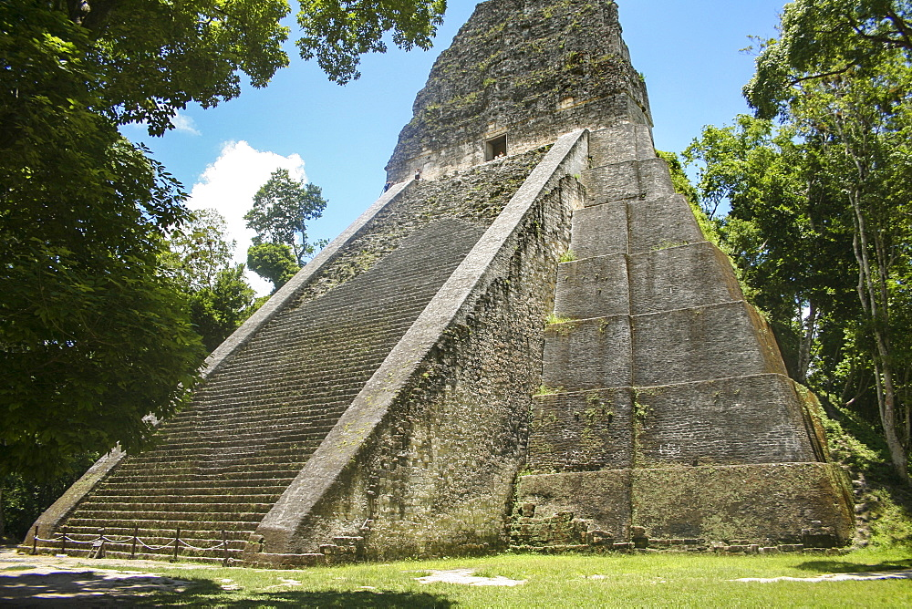 Tikal Temple V is part of the ancient ruins of the Maya in Guatemala.
