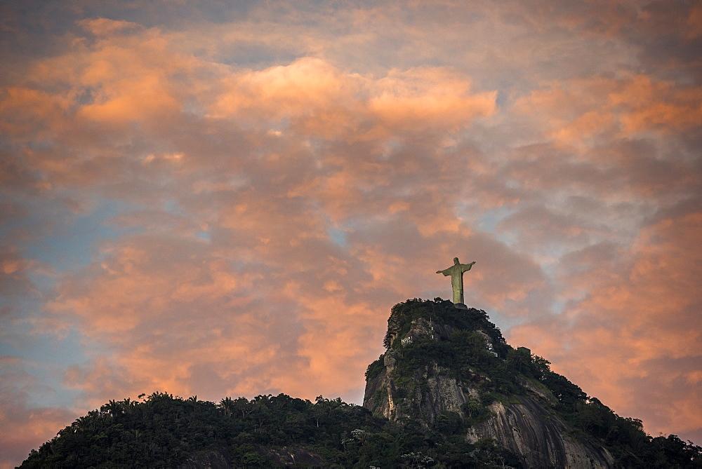 Christ the Redeemer statue at dawn, Rio de Janeiro, Brazil