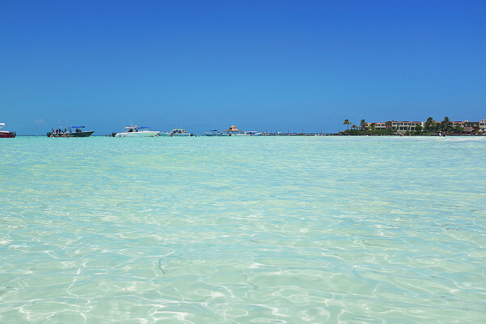 Clear water on beaches of Isla Mujeres, Mexico