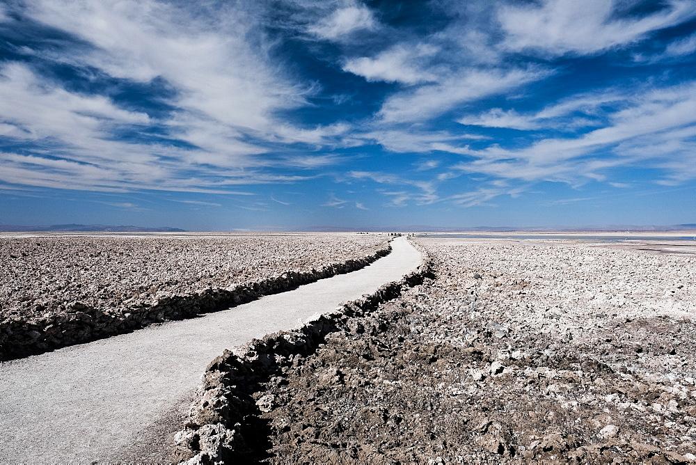Pathway of Laguna Chaxa outside of San Pedro de Atacama, Chile