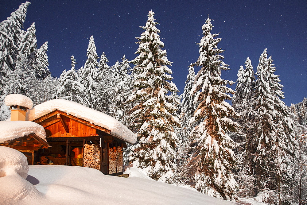 Winter landscape scenes near Morzine, France, part of the Portes du Soleil ski area in the Alps.
