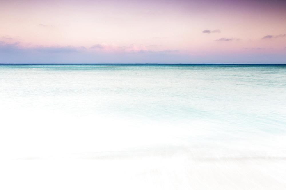 Beautiful view of Caribbean Sea at sunset, Isla Mujeres, Yucatan Peninsula, Mexico