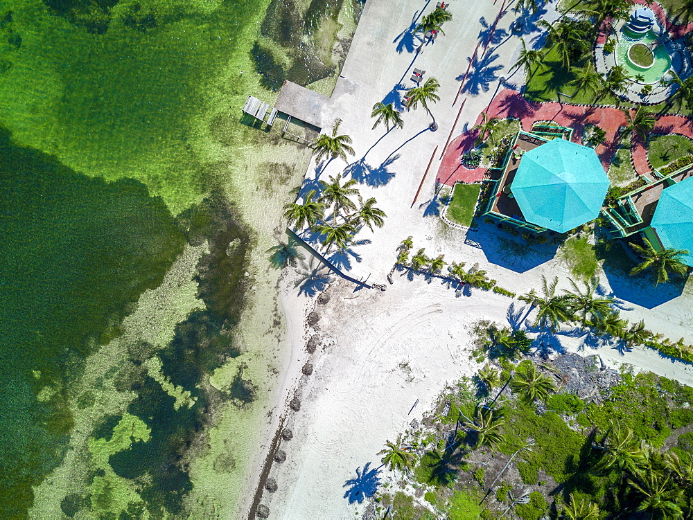 High angle view of colorful Belize