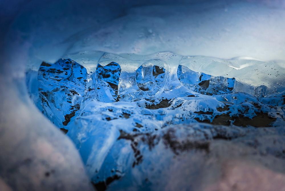 Detailed view of glacier, Narsaq, Greenland