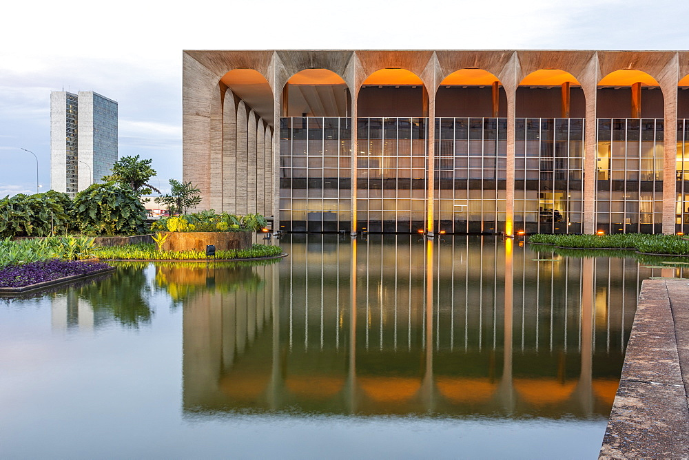 Itamaraty Palace international affairs public building in central Brasilia, Brazil