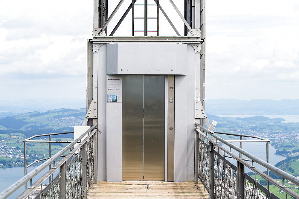 Exterior of burgenstock lift on Lucerne Lake, Lucerne, Switzerland