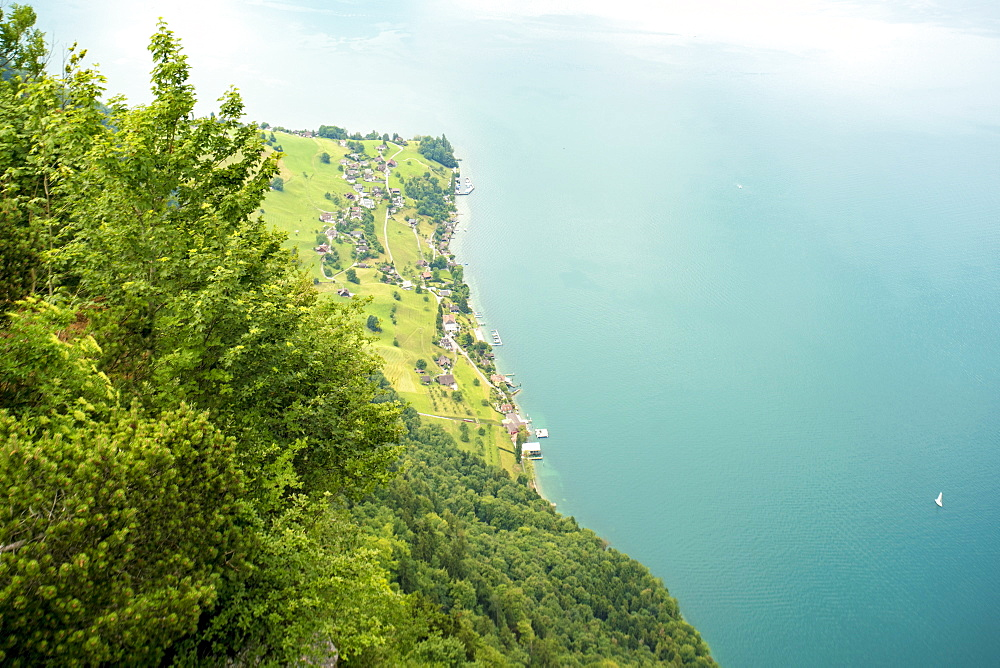 Elevated view of Lucerne Lake from Burgenstock,  Lucerne, Switzerland