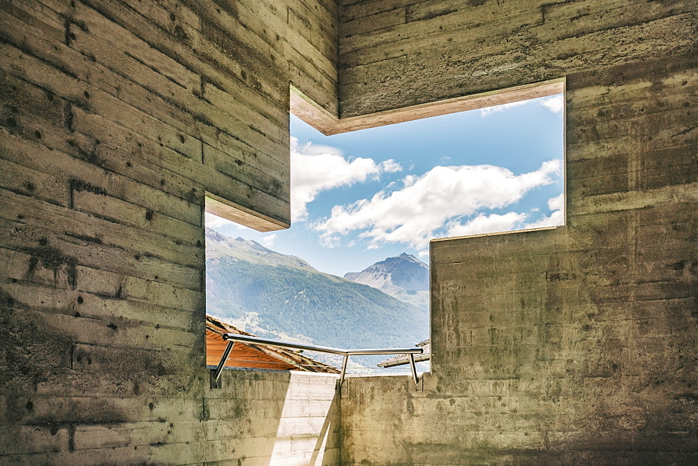 View of mountains from interior of Saint-NicolasChurch inHeremence, Valais, Switzerland