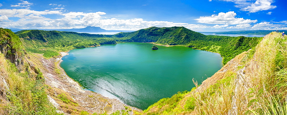 Crater lake of Taal Volcano on Taal Volcano Island, Philippines
