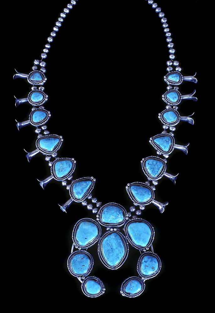 A turquoise necklace, Santa Fe, New Mexico