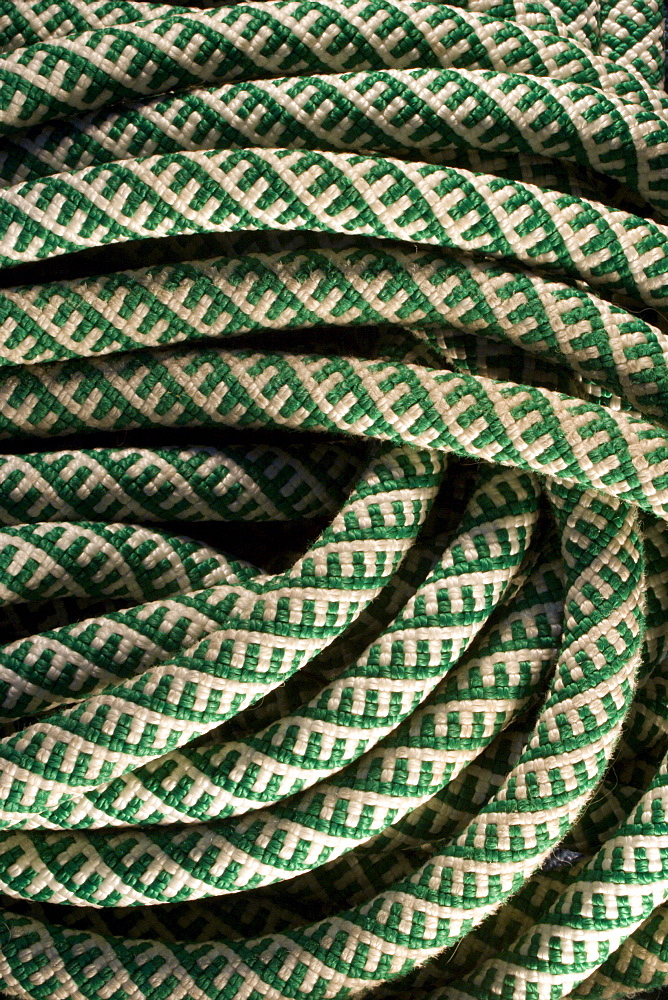 Detail of climbing rope.
