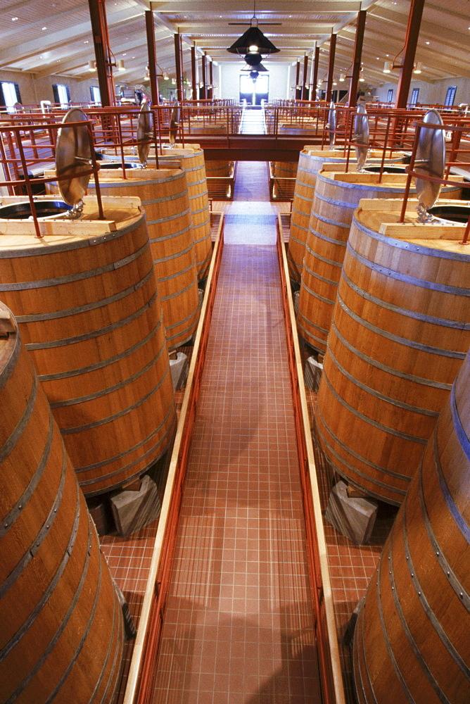 The oak fermentation tanks.