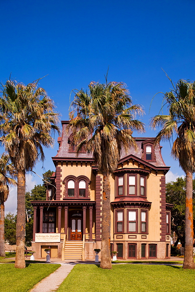 ROCKPORT, TEXAS, USA. The Fulton Mansion in Rockport, TX is a tourist destination.