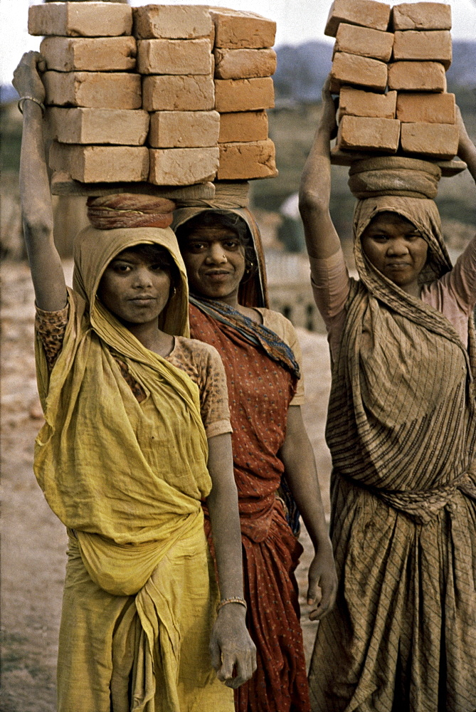 Workers in Kathmandu, Nepal.