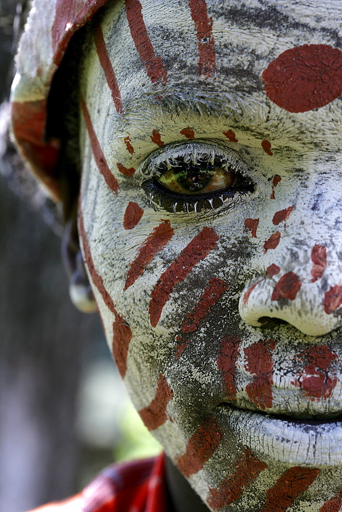 Kikuyu Tribesman with painted face-Thompson Falls