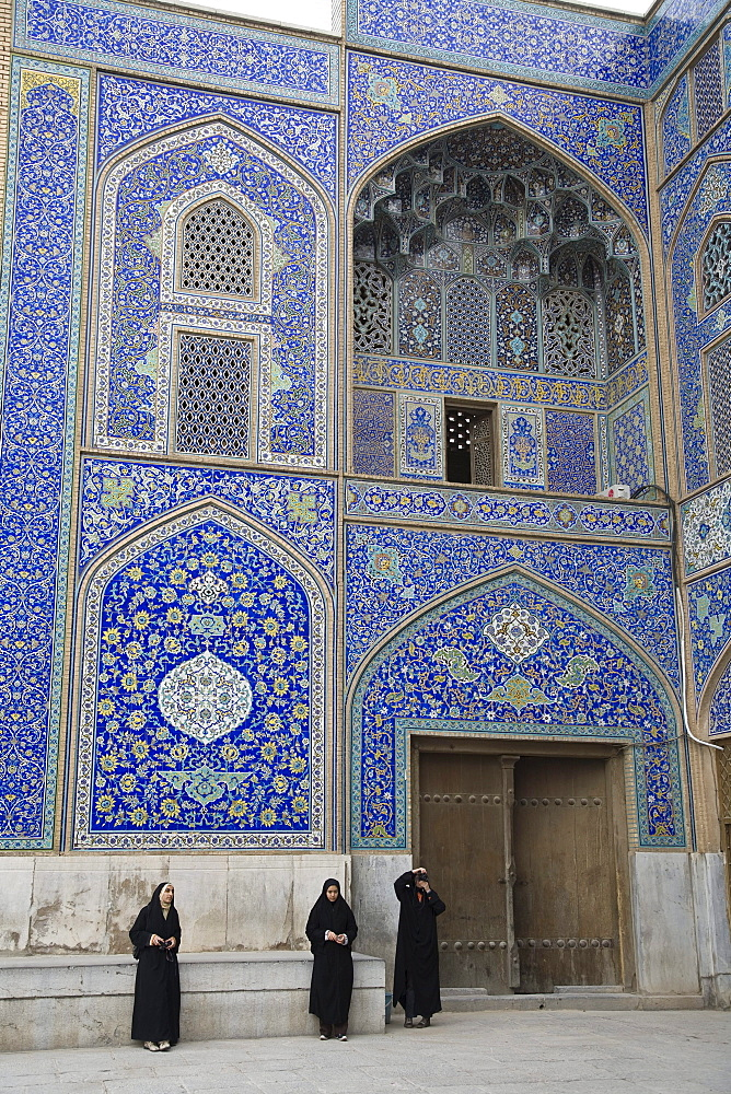 Esfahan, Iran - February, 2008: 17th century Sheikh Lotfollah mosque in Imam Square in Esfahan, Iran was built by Shah Abbas I for the women in his harem.