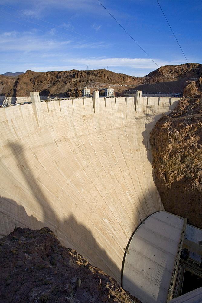 Historic Hoover Dam near Las Vegas, Nevada.