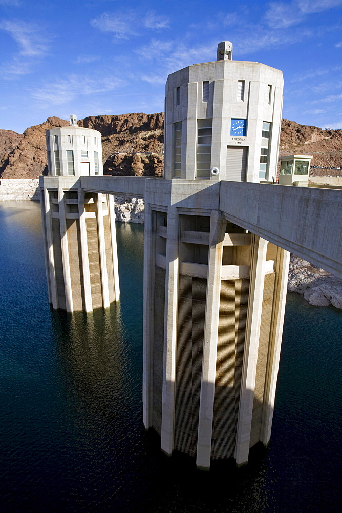 Penstock at historic Hoover Dam near Las Vegas, Nevada.