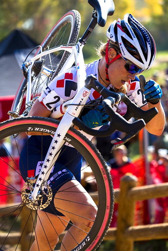 National Champion Katie Compton of Trek racing in Boulder, CO