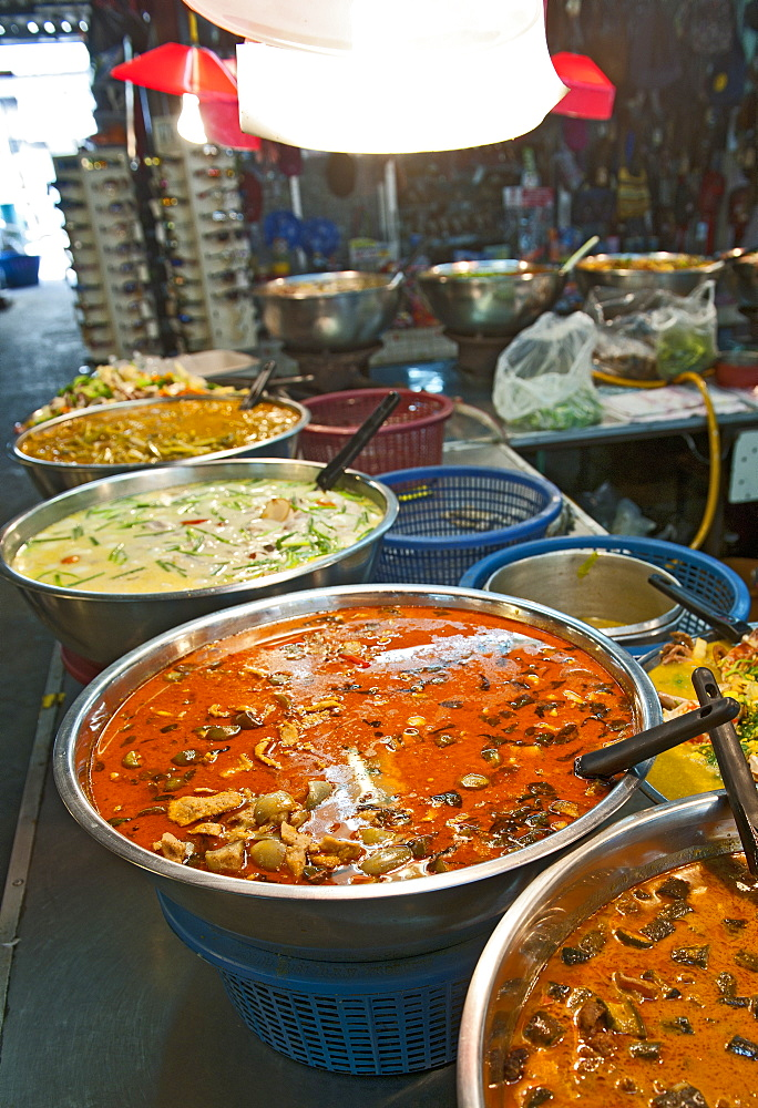 street food at a market in Chiang Mai / north Thailand