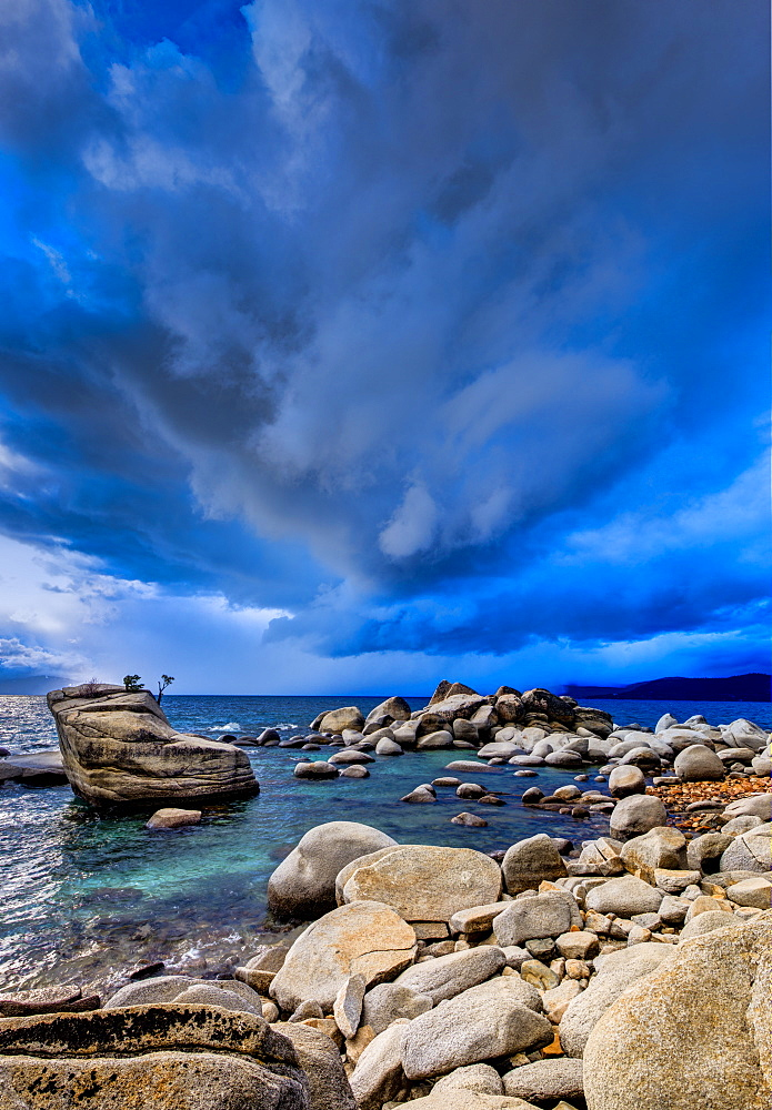 Stormy sunset over Lake Tahoe, Nevada - 857-89948