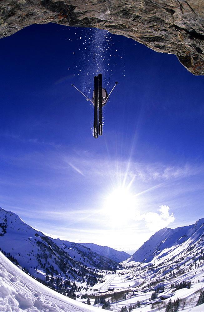 Colin Puskas, big air in Alta, Utah, United States of America