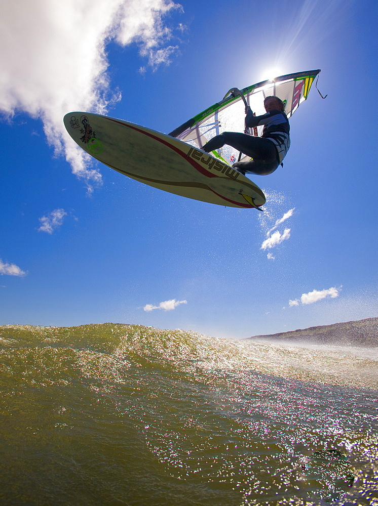 Windsurfer airs it out at Maryhill Sate Park, United States of America