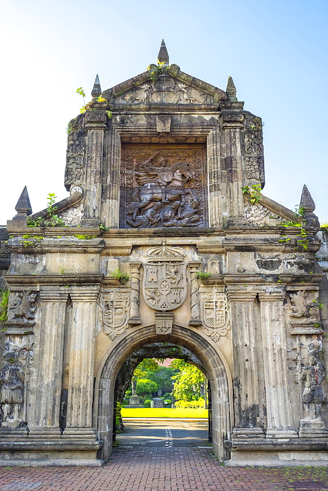 Reconstructed main gate entrance to Fort Santiago, Intramuros, Manila