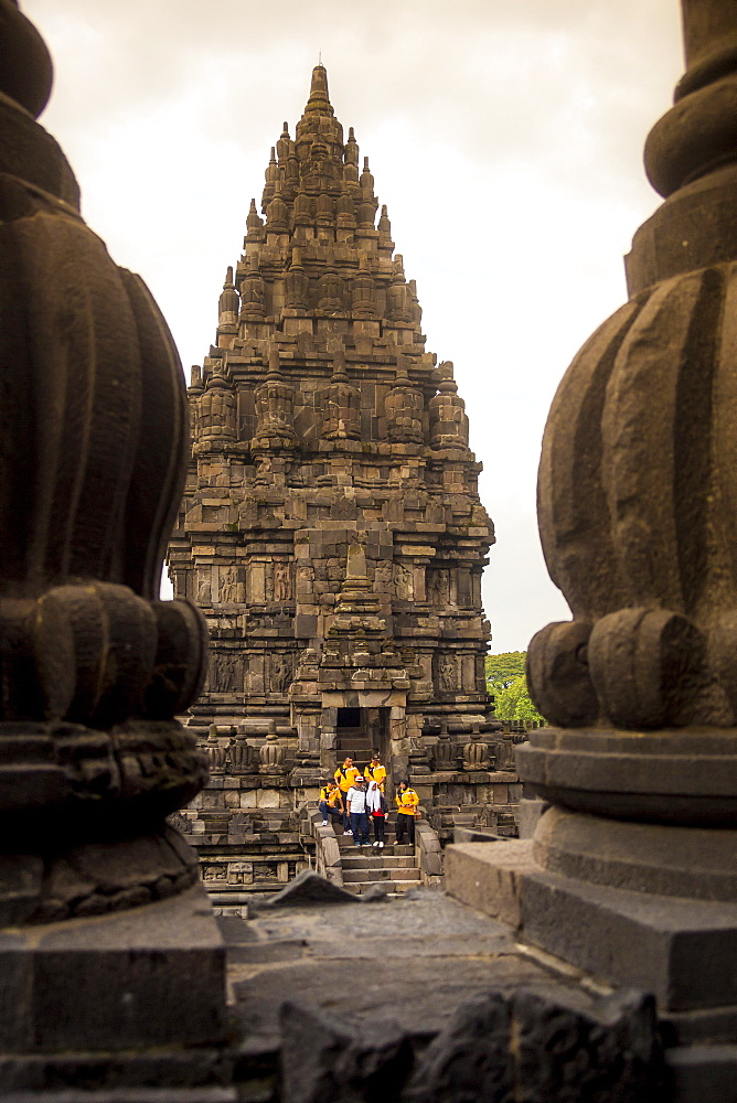 People In Prambanan Temple, Yogyakarta, Java Island, Indonesia
