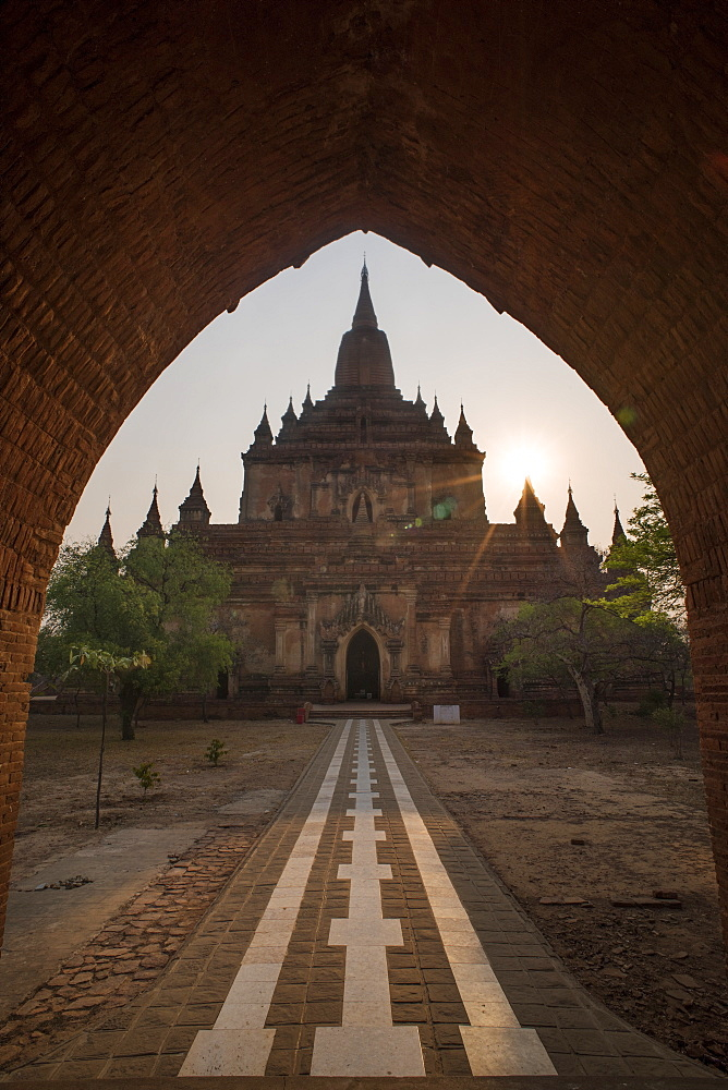 View Of The Entrance At The Sulamani Temple In Bagan, Myanmar