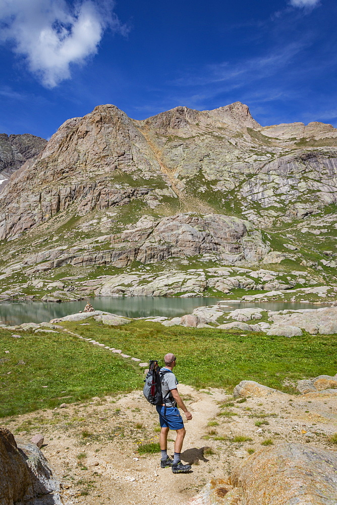 Man Enjoying Twin Lakes In Upper Chicago Basin