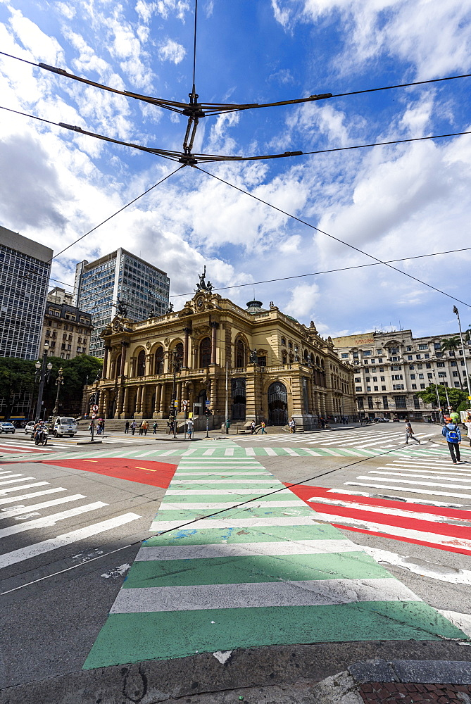 Teatro Municipal (Municipal Theater) in the historic downtown of São Paulo, Brazil